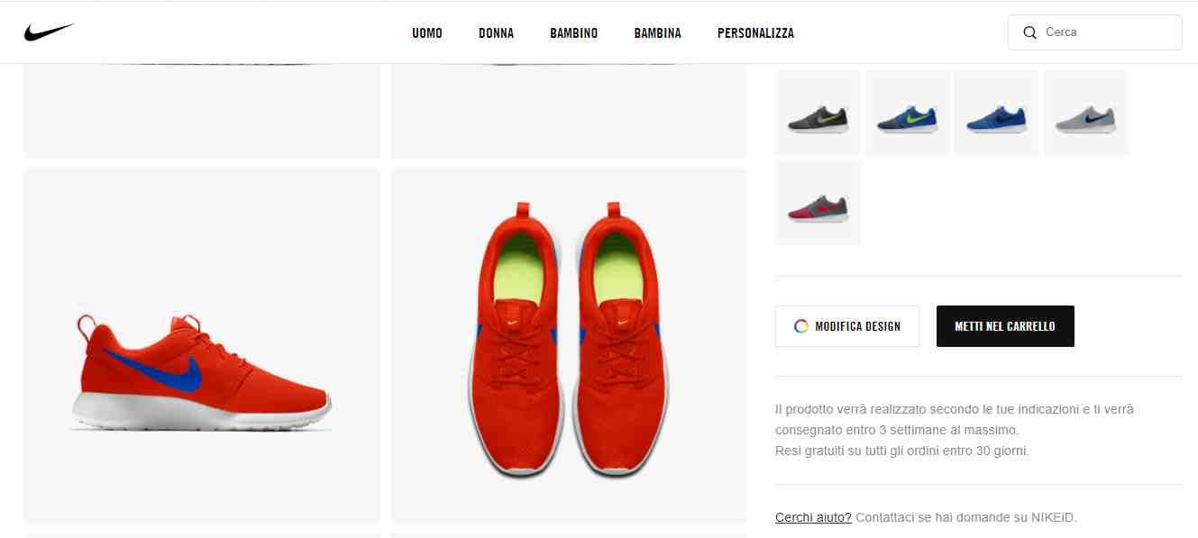 Prosumer e la personalizzazione del prodotto Nike