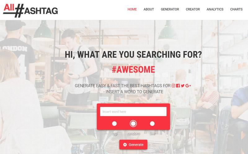 All Hashtag: tool di ricerca degli hashtag su Instagram
