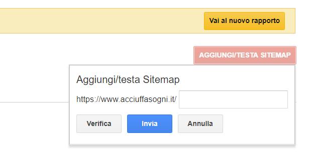Indicizzazione tramite Google Search Console