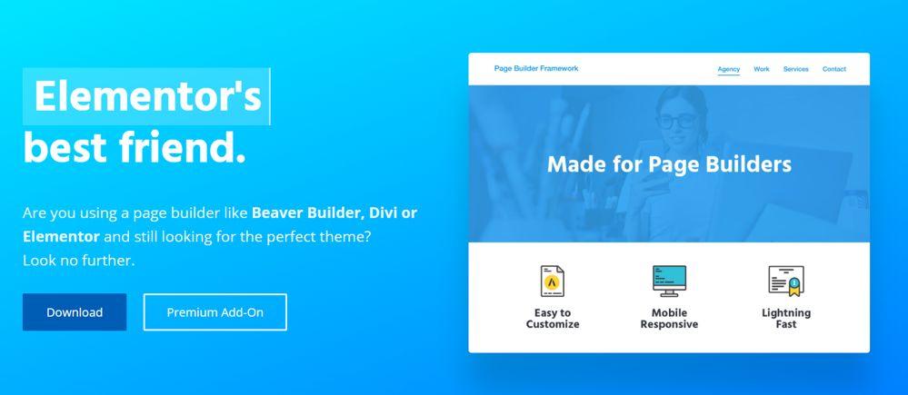 Page Builder Framework: tema wordpress per elementor