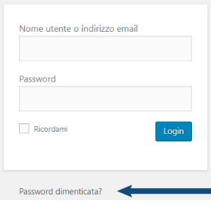 come recuperare la password di wordpress